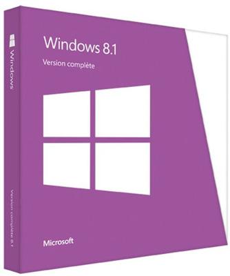 Windows 8.1 en version boîte